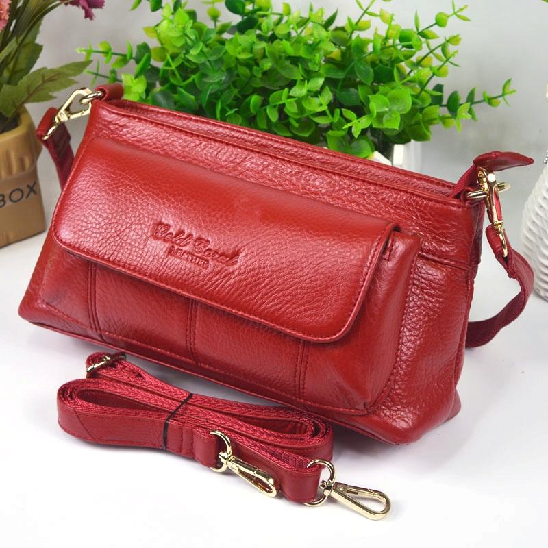 41.40$  Know more  - Casual Cow Leather Handbags Women Messenger Shoulder Bags Bolsas Feminina High Quality Phone Bag Women 100% Genuine Leather Bag