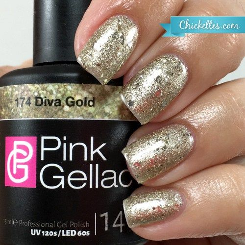 New Glamourize The Pink Gellac Party Collection Gel Nail Polish Colors Gold Gel Nails Nail Polish
