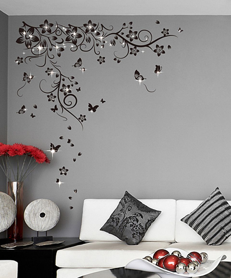 Take A Look At This Swarovski Crystal Butterfly Vine Wall Decal