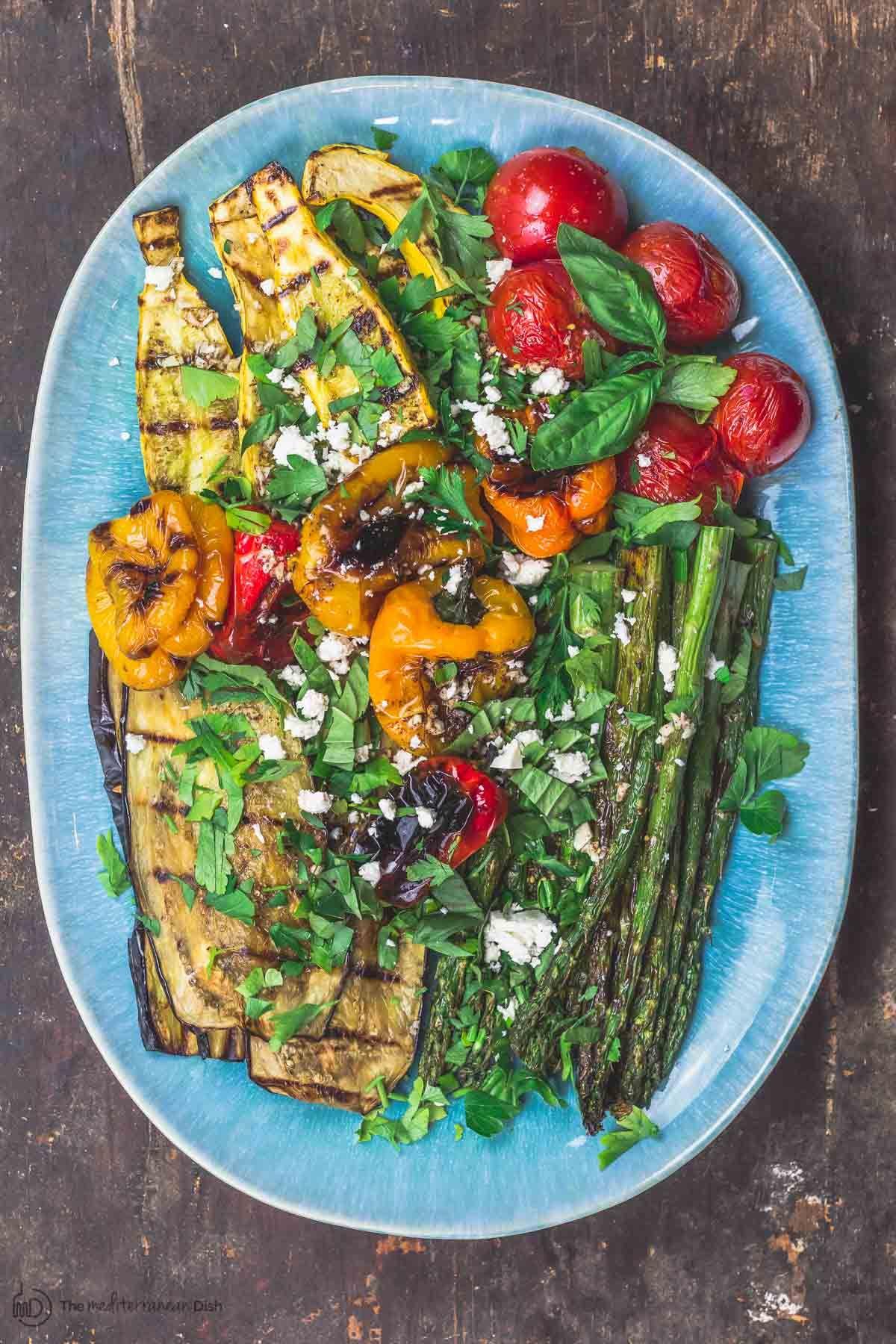 Mediterranean Easy Grilled Vegetables