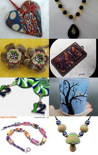 Polymer Clay Team Gifts by MaryClaires on Etsy--Pinned with TreasuryPin.com