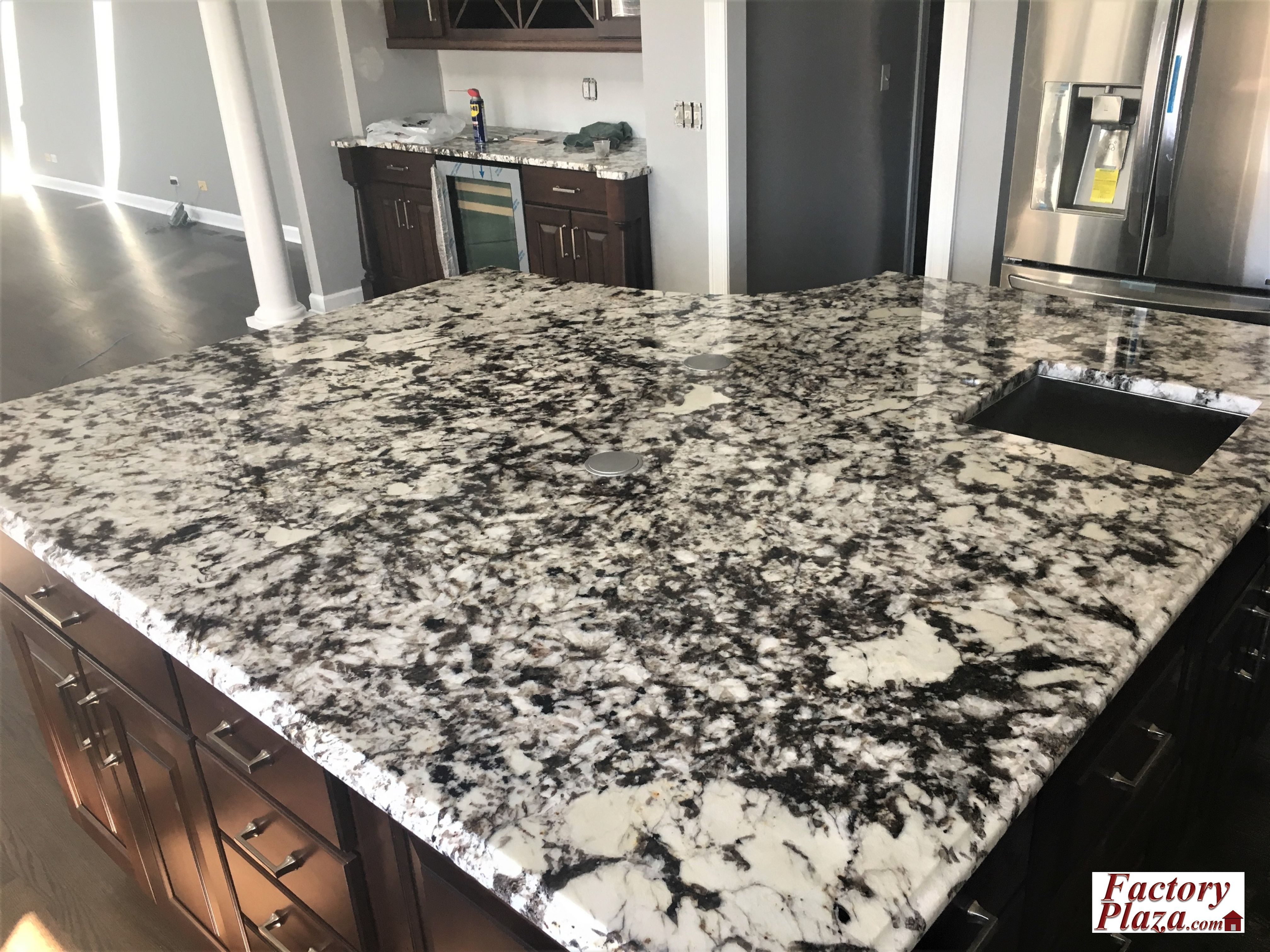 Factory Plaza measure, fabricate and install Granite