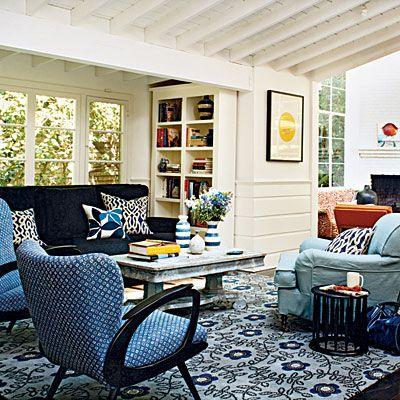 100 Comfy Cottage Rooms Blue Living RoomsLiving Room