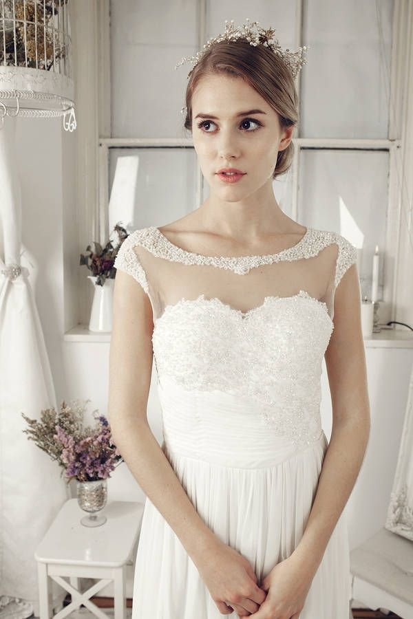 floor length sweetheart bridal dress by elliot claire london   notonthehighstreet.com