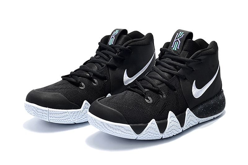 Nike Kyrie 4 Black White-Anthracite-Light Racer Blue 943806-002 Cheap Kyrie  Shoes 2018 9cc4f8079