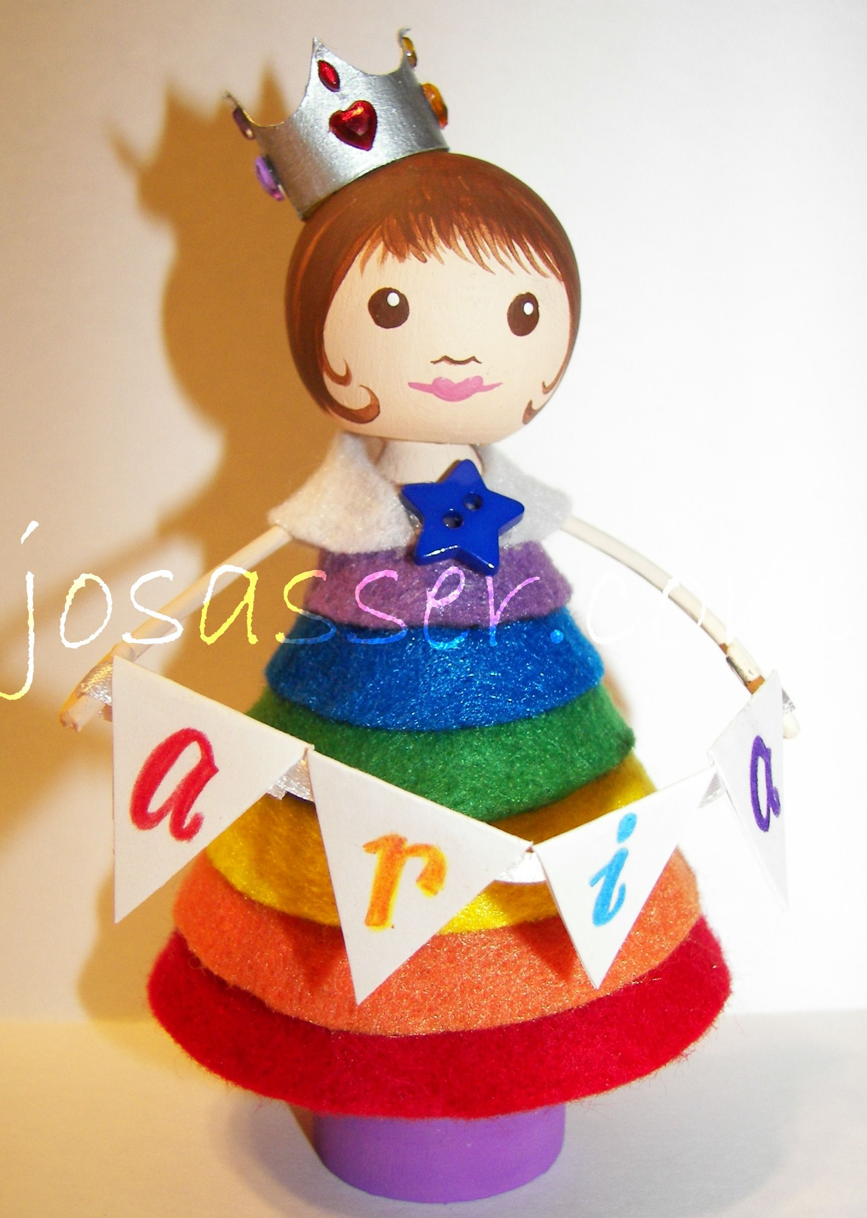 rainbow clothespin doll, inspired by http://pinterest.com/pin/130393351681021795/