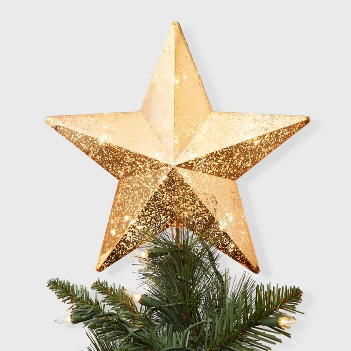 11 X 9 5 Incandescent Lighted Plastic Star Christmas Tree Topper With Clip Gold Wonde Christmas Tree Star Christmas Tree Star Topper Christmas Tree Toppers