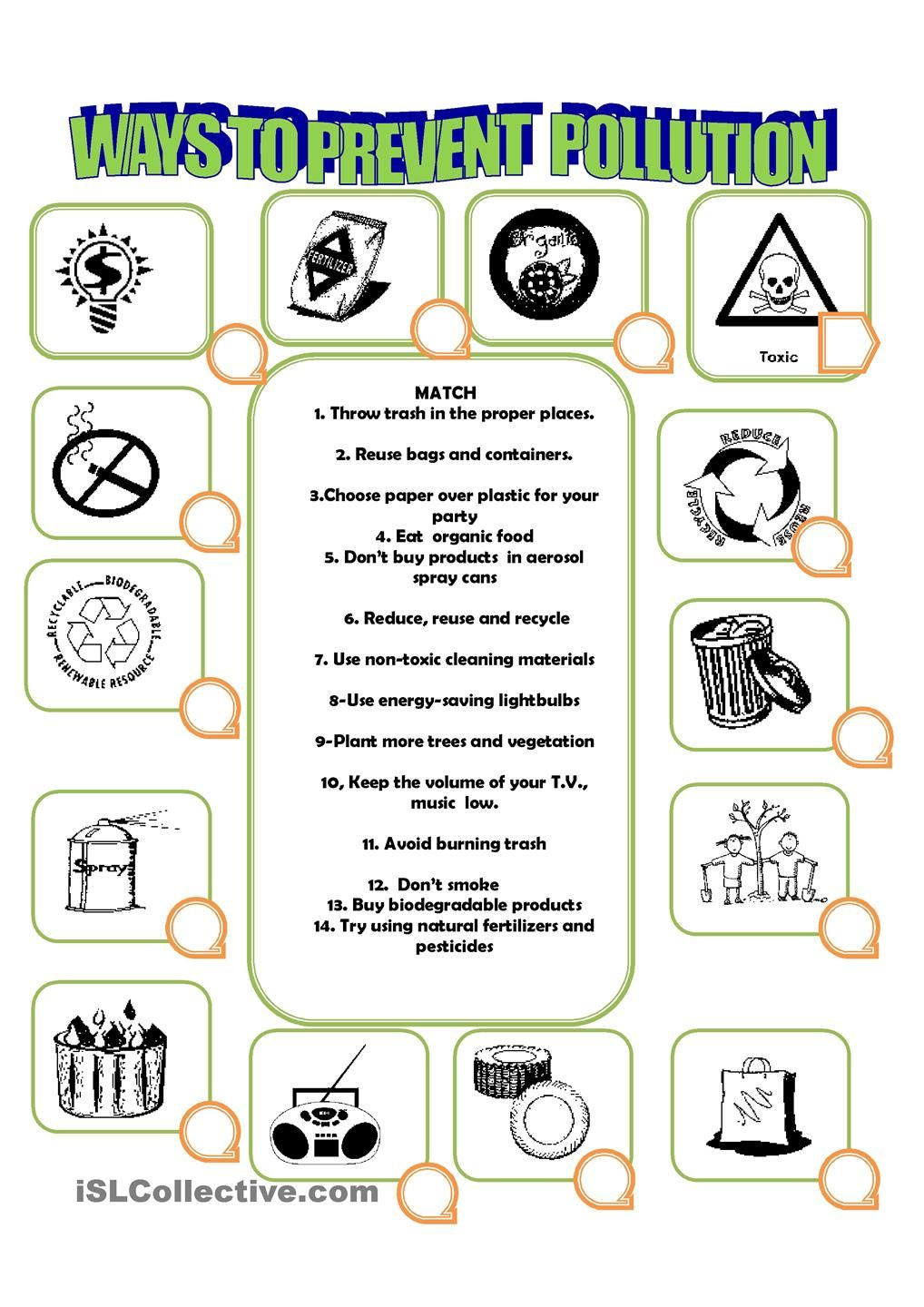 worksheet Air Pollution Worksheet how to prevent pollution languages and teaching pinterest pollution