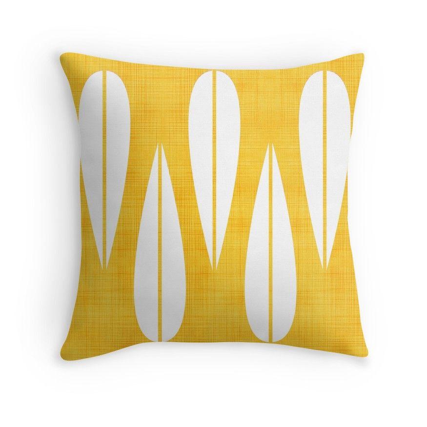 Make Mine Mcm Orange Throw Pillow By Lisajaynemurray Orange Throw Pillows Throw Pillows Grey Throw Pillows