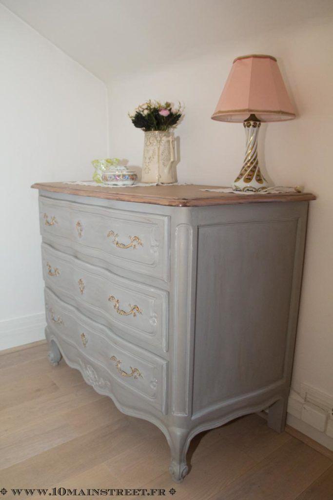 relooking raffin pour une commode en merisier verni des ann es 1970 chambre parentale. Black Bedroom Furniture Sets. Home Design Ideas