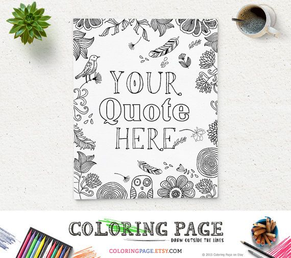 Holiday Coloring Page Design Custom Printable Quotes