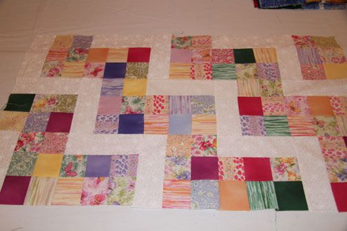 Williamsburg Block Party, from Carolyn Beam's class on using charm squares