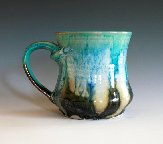 Coffee mug handmade ceramic cup ceramic stoneware mug by for Handmade mug designs