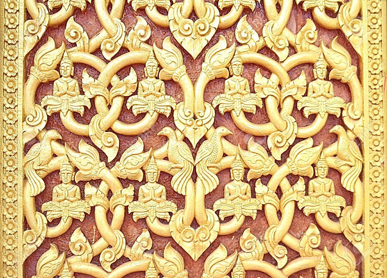 22032497-Pattern-of-Laos-Wood-carving-art--Stock-Photo.jpg (1300×935 ...