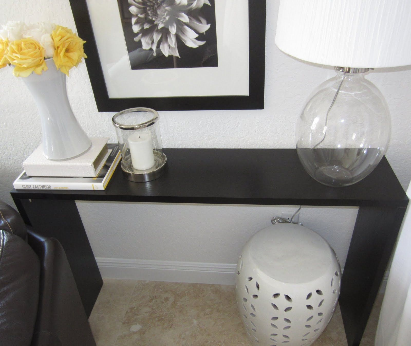 Sleek Console Table: Making Your Own Out Of Three Shelves When You Canu0027t