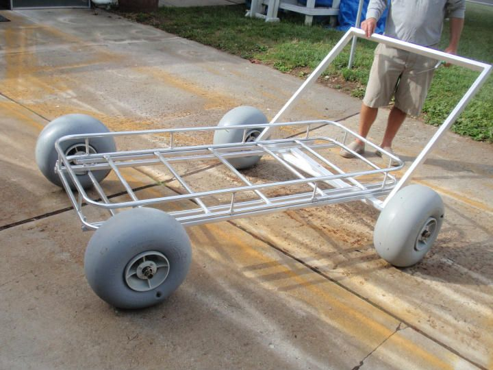 Custom beach cart cool want pinterest beach for Fishing carts for sale