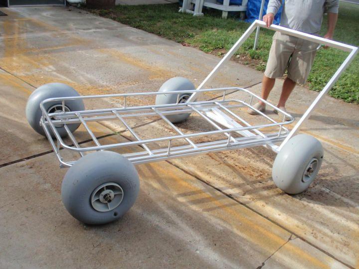 Custom beach cart cool want pinterest beach for Pvc fishing cart