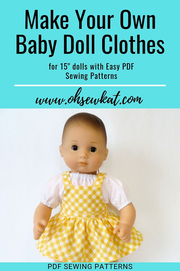 Make Easy Doll Clothes To Fit 15 Baby Dolls Like Bitty Baby Baby Doll Clothes Patterns Bitty Baby Clothes Baby Doll Clothes