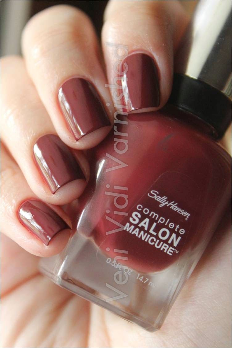 Sally Hansen Rupee Red — I have this color but it dries a deep ...