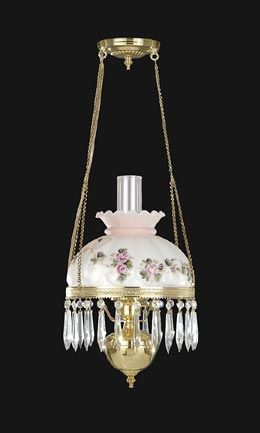Small Library Lamp With Hand Painted Shade Antique Lamp Supply