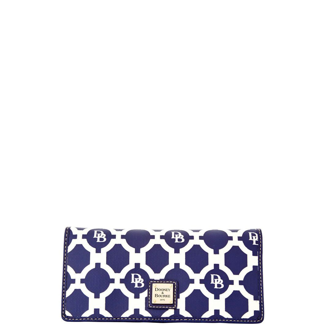 Dooney & Bourke | Sanibel Slim Wallet | The Sanibel Slim Wallet channels classic Palm Beach style with a breezy geometric print.