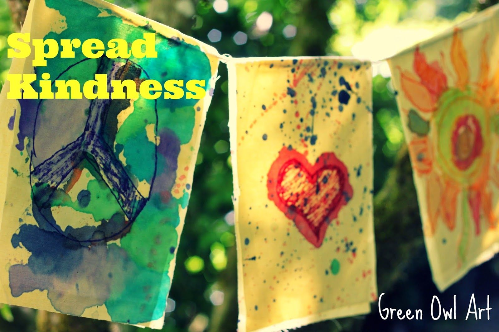 Kindness flags! Love it