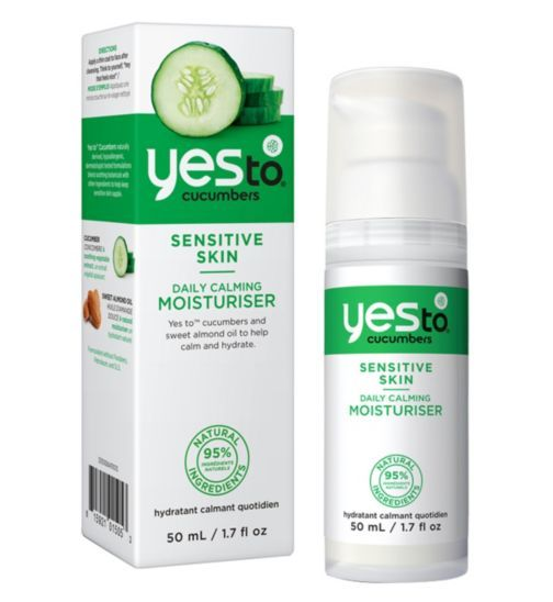 Yes to Cucumbers Daily Calming Moisturiser 50ml for Sensitive Skin - Boots