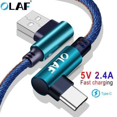 OLAF 5V 2.4A USB Type C Micro IOS 90 Degree Fast Charging Usb Cable Cord  For Samsung Xiaomi iphone Sale, Price & Reviews | Gearbest