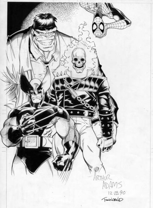 theNot ready for fantastic four by Art Adams