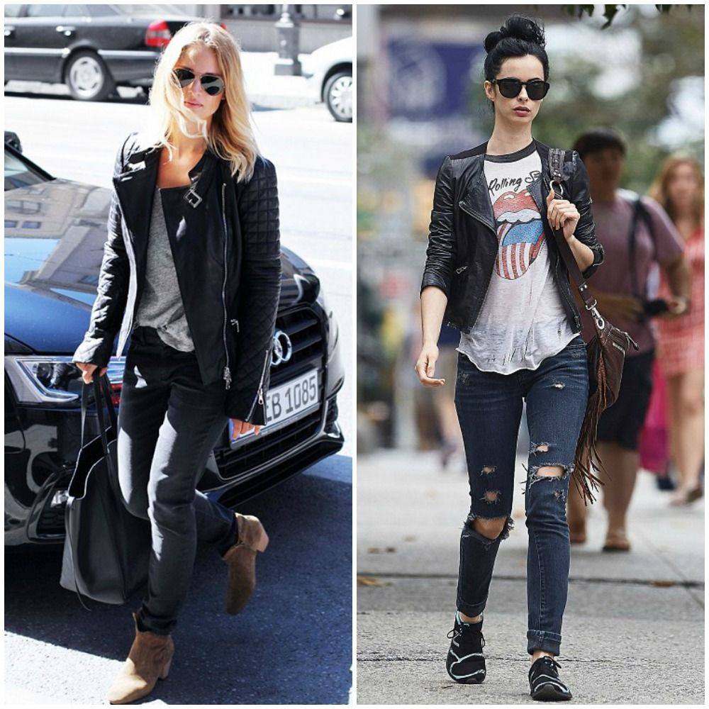 rock chic black skinny jeans top uk fashion blog trends 2014 street style outfits love it. Black Bedroom Furniture Sets. Home Design Ideas