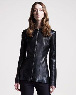 B22TS THE ROW Leather Jacket
