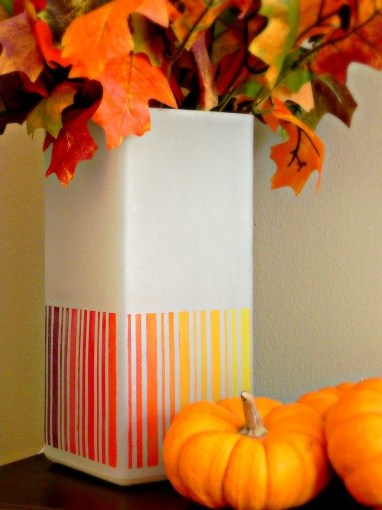 DIY: Fall Leaves Inspired Ombre Lamp. IKEA Hack | Fall fashion love ...