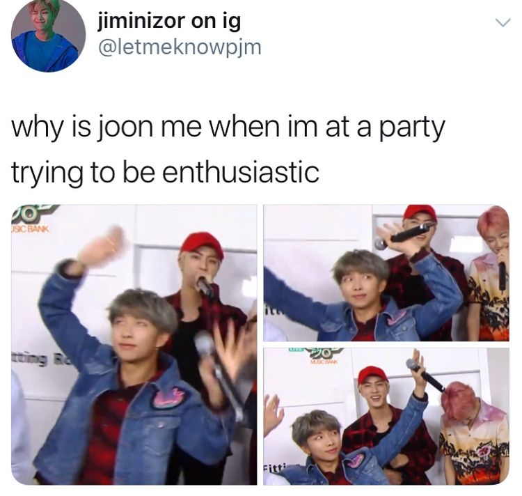 when I'm at a party and try to look like I'm enjoying myself <<< #bts #memes
