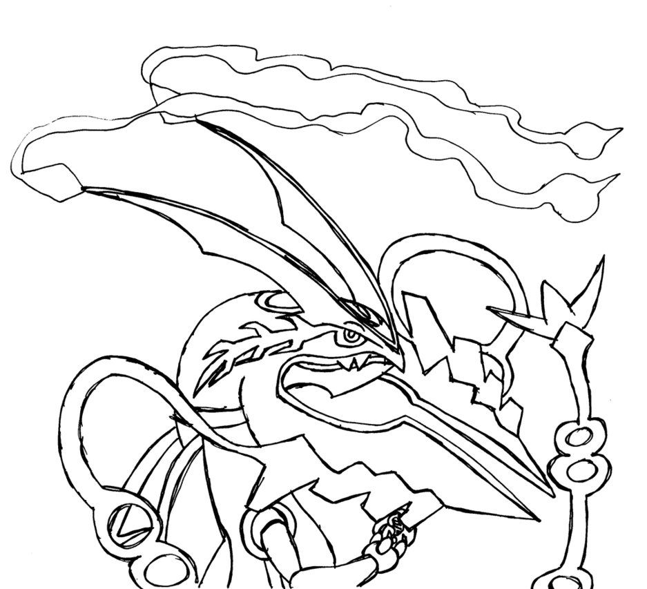 Legendary Pokemon Coloring Pages Mega Rayquaza Collection