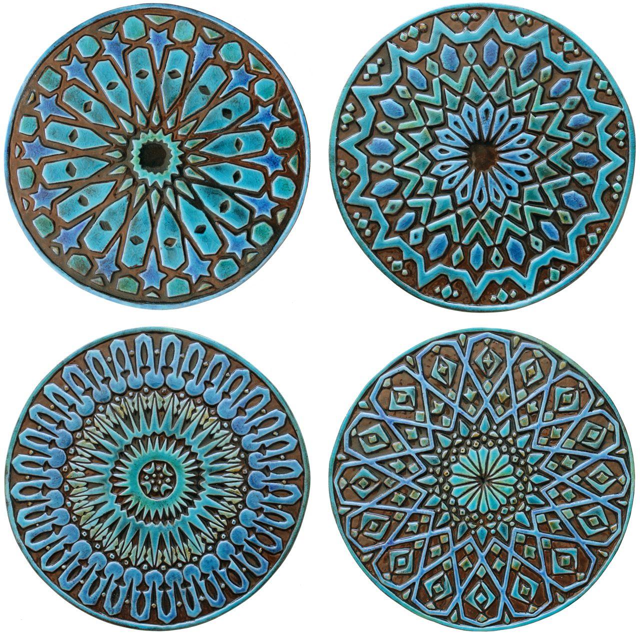 Gvega Moroccan Ceramic Wall Art Ceramic Wall Art Outdoor Wall