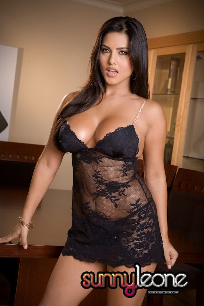 black pornstar india lingerie - Indian Pornstar Sunny Leone! Really Hott Pictures!! Black Lace LingerieSexy  ...