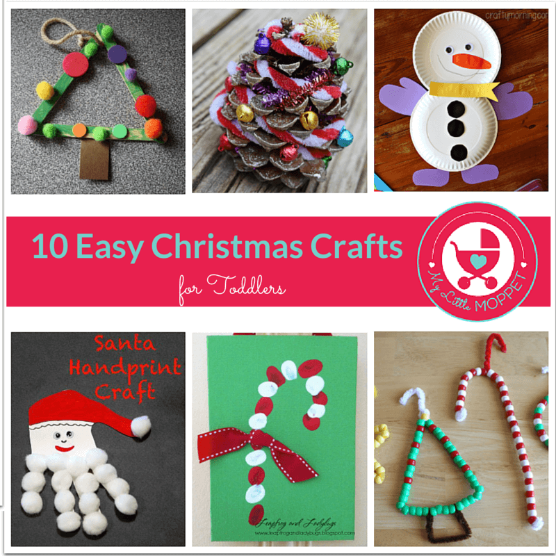 10 Easy Christmas Crafts for Toddlers 10