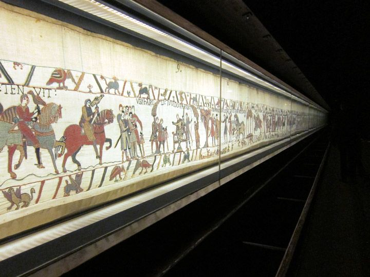 Bayeux Tapestry on display, Normandy, France