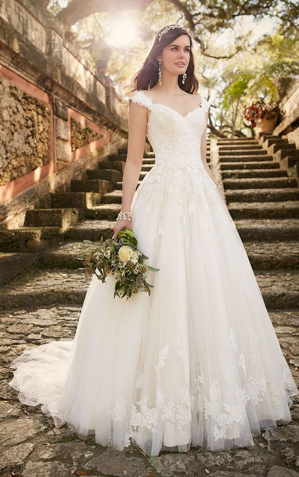 Casual wedding dresses with sleeves   Classy Spring Wedding Dress  Spring weddings Wedding dress and