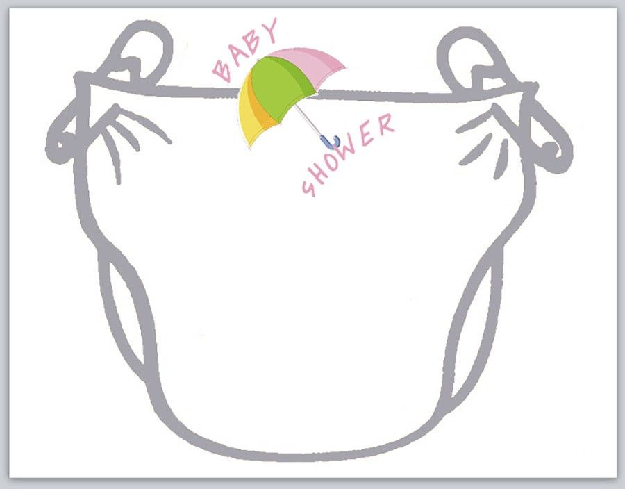 diaper baby shower invitation template