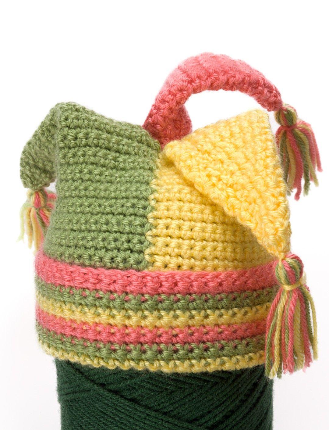 Yarnspirations.com - Caron Crochet Tripod Hat - Patterns ...