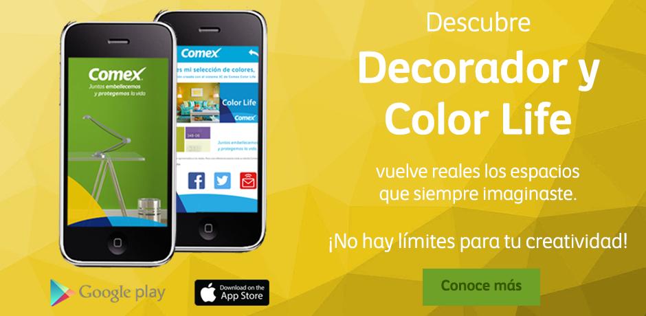 Conoce, explora y compara las mejores combinaciones de color de forma funcional y divertida. Descarga nuestra app #Colorlife, disponible en Google Play y App Store. #ComexPinturerías #Apps