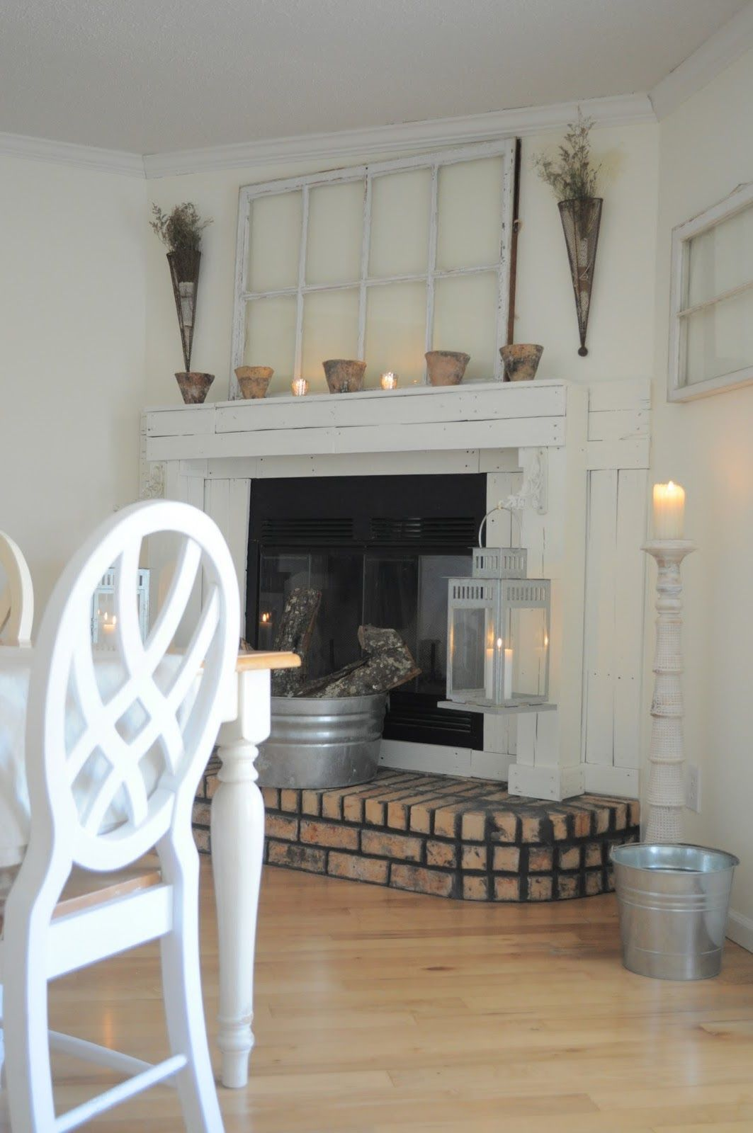 thinking about doing this to my new decorative fireplace for rh pinterest com