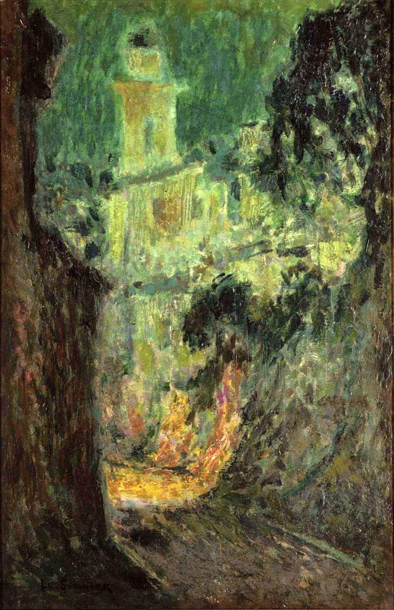 Henri Le Sidaner: Street under the Moon.