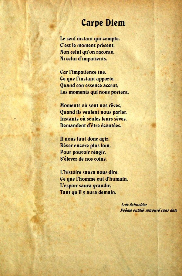 127 carpe diem carpediem poeme po sie citations for Recherche carpe