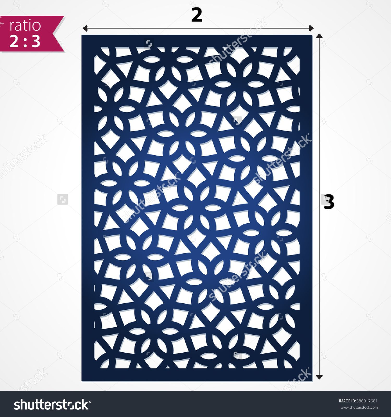 Abstract Cutout Panel For Laser Cutting, Die Cutting Or Stencil ... for Laser Cut Designs Paper  111bof