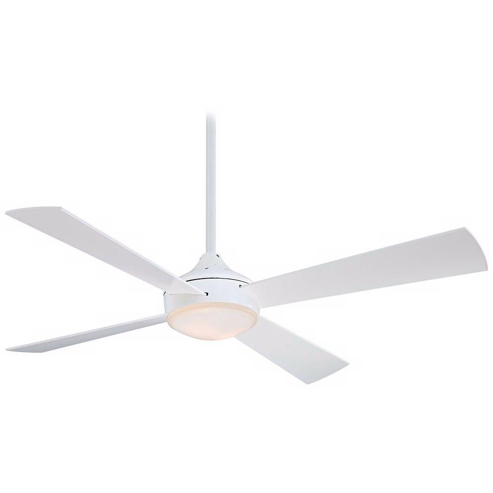 52 Minka Aire Aluma Flat White Ceiling Fan Style R2799