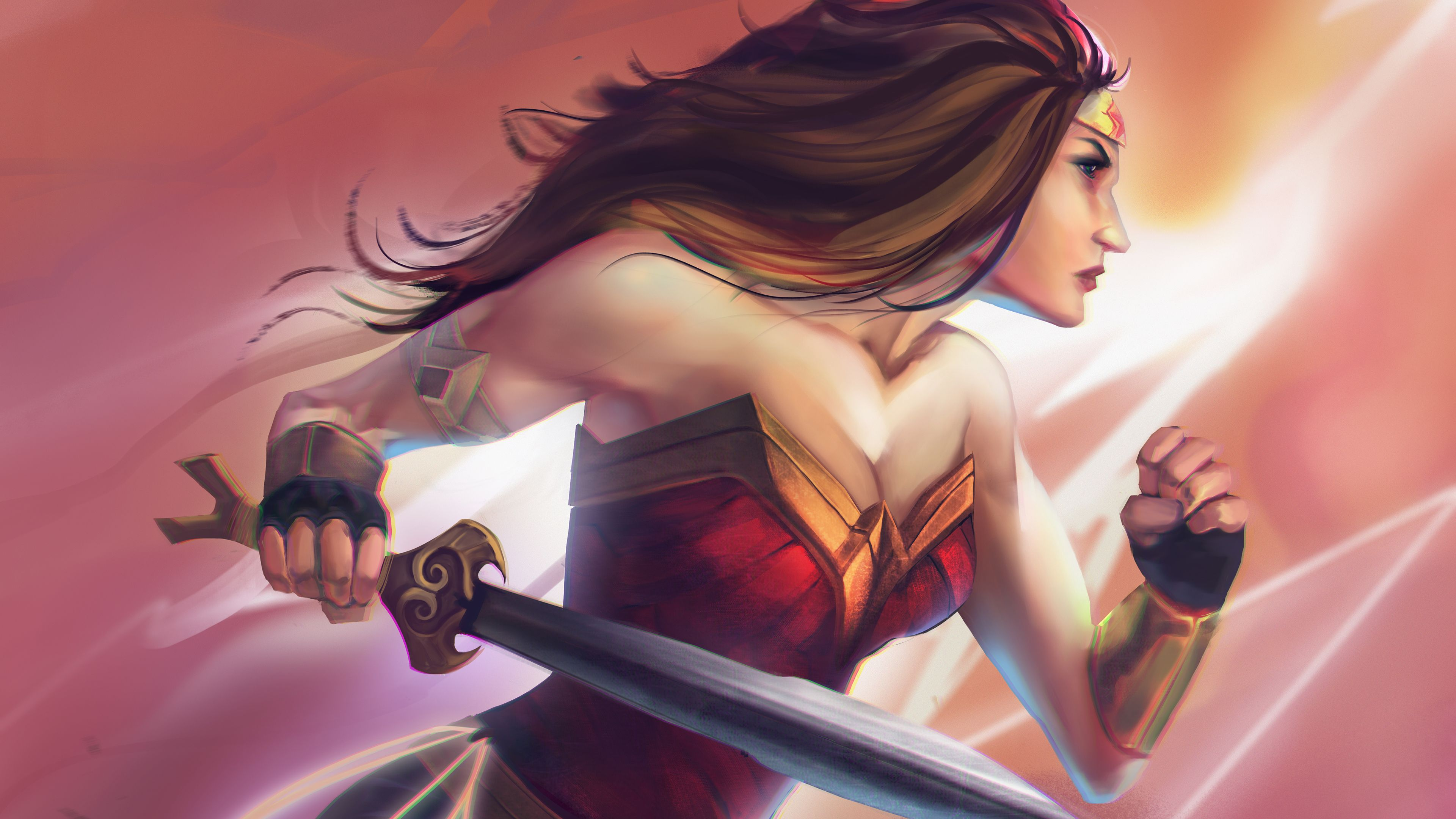 Wonder Woman Paint Art 4k Wonder Woman Wallpapers Superheroes Wallpapers Hd Wallpapers Digital Art Wallpapers Beh Wonder Woman Woman Painting Warrior Woman