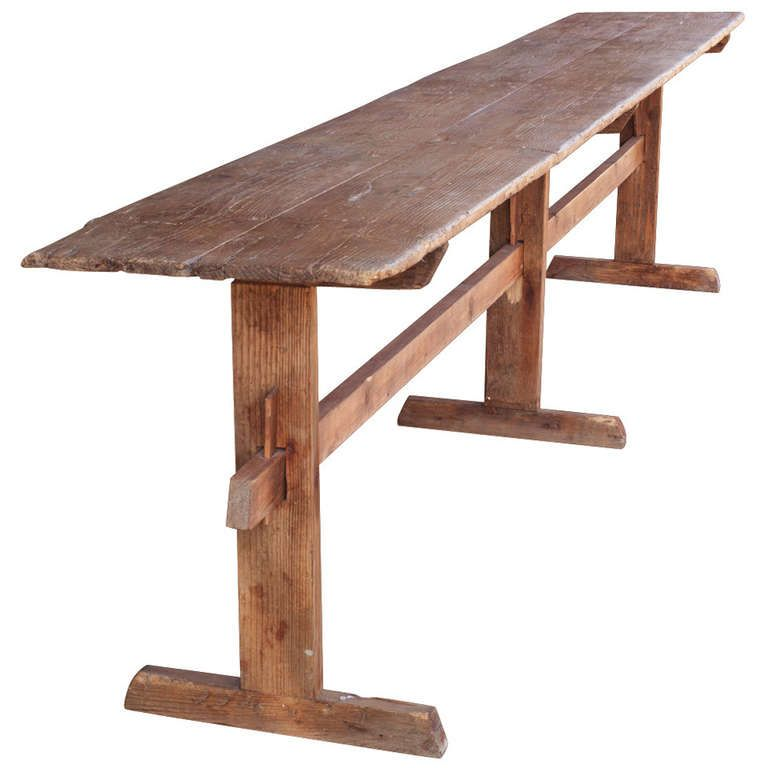 Extra Long Trestle Table | Trestle tables, Table tray and Tables