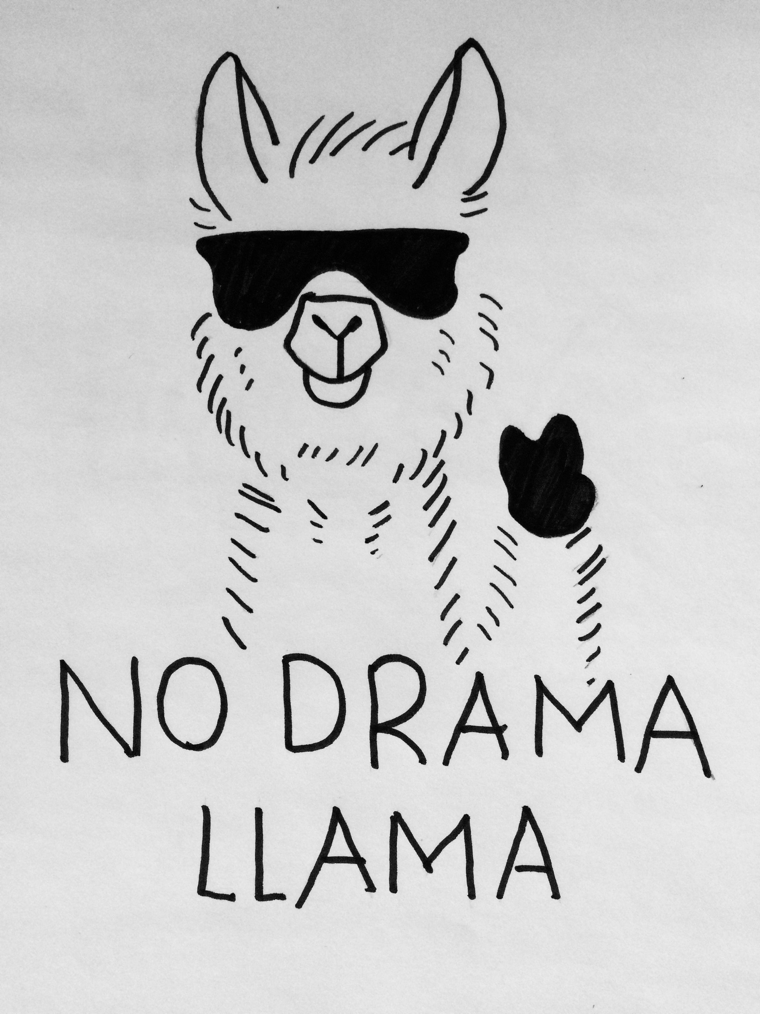 no drama lama in 2019  lama zeichnung zeichnungen und